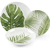 Excelsa Foliage Service de 18 assiettes en porcelaine