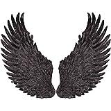 ARTISAN-SH 1 Par de Parches de Alas de ángel Oscuros, Parches de Alas de Moda Parches para Ropa, Parches de Alas Bordados se