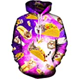 Rave on Friday Unisex 3D Hoodie novità Felpa con Cappuccio Funky Stampato Pullover Coulisse Tasca Sweatshirt