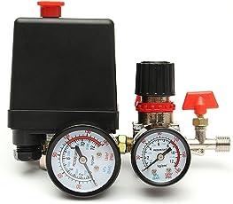 Generic 125PSI Air Compressor Pressure Valve Switch Control Manifold Regulator Gauges One piece