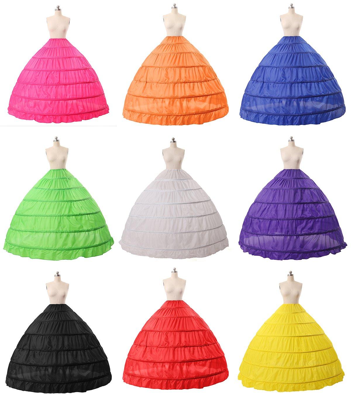 BEAUTELICATE Sottogonna Petticoat Donna Gonna Lunga 6 Cerchio Crinolina Rockabilly Vintage Sottoveste per Vestito Abito… 3 spesavip
