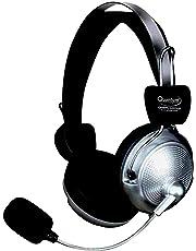 Quantum USB Headphone with Mic (Silver/Black)