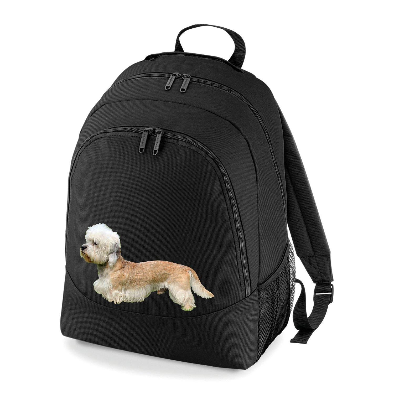 Taurus Clothing Dandie Dinmont Terrier Dog Personalised Embroidered Rucksack Black
