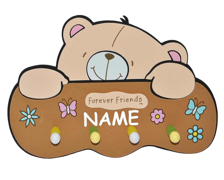 Kleiderhaken clipart  3-D Kindergarderobe - Teddy Bär Forever Friends incl. Namen - mit ...