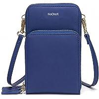 NoChoX Handtasche Damen Umhängetasche Handytasche Zum Umhängen Geldbörse Portemonnaie mit Vielen Fächern Kartenfach…