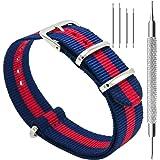 CIVO Bracelets de Montres NATO Nylon Bracelet en Acier Inoxydable Boucle 18mm 20mm 22mm Bande pour Homme Femme