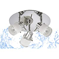 Trango 3 flammes modernes Lampe de salle de bains à LED IP44, plafonnier, projecteur de plafond, lampe de salle de bain…