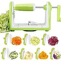 Spiraliseur de Légumes, 7 Lames Spaghetti Légume Spiralizer, Sedhoom Coupe-Legumes Spirale Manuel pour Courgettes…