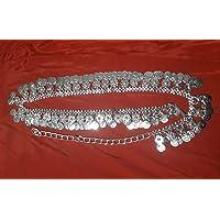 Kaku Fancy Dresses Silver Belt/Ethnic Jewellery/Kamarband Jewellery/Silver Kamarpati Jewellery -Silver, Free Size, for…