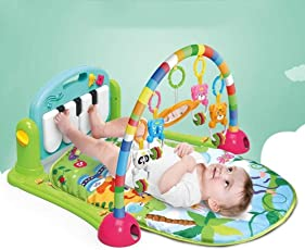 Jiada Kick and Play Multi-Function Toy with Piano (Multicolour, 1 - 36 Month)