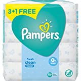 Pampers Baby Wipes Fresh Clean Dermatologically Tested Safe for Baby's Skin 256 Count