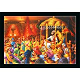 FLORETO Plastic Religious Paintings, Multicolour, Modern, Medium