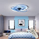 Kind Led Fan Moderne Plafondlamp Nordic Dimbare Plafondventilator Met Ultra-Dunne Lamp Onzichtbare Wind Glans Verstelbare Ult