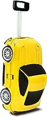 HOMIES INTERNATIONAL Polypropylene Car Shape Trolley Suitcase for Boys and Girls (Multicolour, 2.5kg)