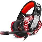 Cuffie Da Gioco Per Ps4 Con Microfono,Pc,Xbox One,Laptop,Surround,Cancellazione Del Rumore,Con Luci Led,Controllo Del Volume