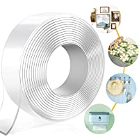 Hetvi trend ARLICODECK™ Double Sided Adhesive Tape, Transparent Strong Adhesive Traceless Tape Removable Washable and…