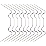 FORMIZON 120 Stuks Broeikas Klemmen, Extra Dik (1,5 mm) Stormbestendige Roestvrijstalen Broeikasklemmen, Dubbelwandige Paneel