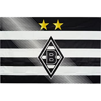 Mehrfarbig Unbekannt VFL Borussia M/önchengladbach Herren Borussia M/önchengladbach-Fohlenelf-Artikel-Stockfahne Raute-60 x 40 cm Flagge