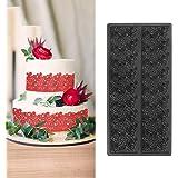 Hebudy Décorations De Gâteaux Moule en silicone Moule Fondant Dentelle Cake Lace Mat pour la cuisson Moule a gateau