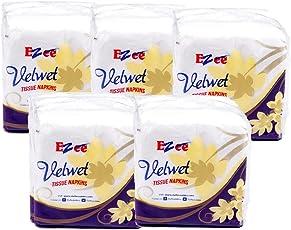 Ezee Velvet Tissue Paper Napkins - 50 Pieces (Pack of 5)