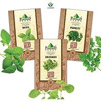 Herb Seeds Combo Of Italian Basil, Oregano, Parsley