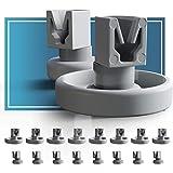 Ruedas lavavajillas de Plemont® [cesta inferior/cesto superior] ruedas de lavavajillas para muchos comunes lavavajillas de Bo