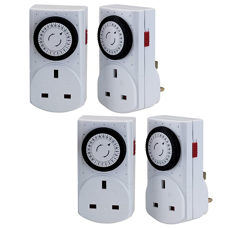 3 Pack Wickes Electronic Digital Mains Timer Socket Plug w//Display 12//24 Hour