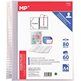 MP - Carpeta Clasificadora con Anillas, 60 Fundas A4 con Portada Personalizable