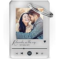 Schlüsselanhänger mit Foto im Song Cover Design. | Schöne Geschenkidee für Weihnachten Freunde Partner Familie…