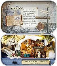 DIY Dollhouse Miniature Kit Handmade Xmas/Birthday Idea Gift Box Theatre (Winter Roaming)