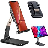Rewup Adjustable and Foldable Desktop Phone Holder Stand for Phone Comfortable with All Mobile Phone/iPad/Tablets for Desk, B