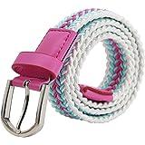 AnJuHoPa Cintura elastica multicolore per ragazzi e ragazze di 2,5 cm di larghezza e 80 cm di lunghezza alla moda e resistent