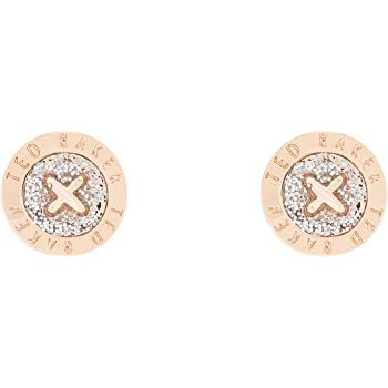 fa5ff9e0387cd Ted Baker Eisley Button Stud Earrings, Rose Gold/Silver