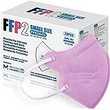 20 Mascherine FFP2 Rosa Size Mini Certificate CE, Mascherina 4 Strati Senza Valvola, Maschera Facciale di Protezione, Face Ma