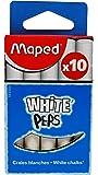 Maped M593500 – Lot de 10 craies rondes et blanches