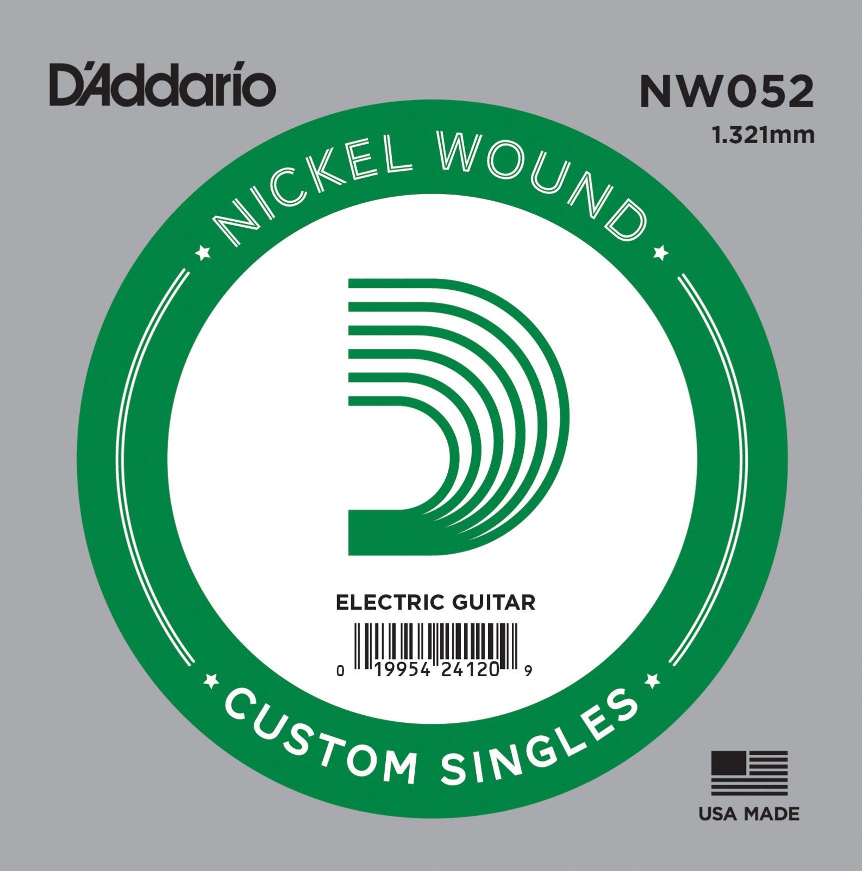 D'Addario NW052 Corda Singola Elettrica-Acustica Nickel Round
