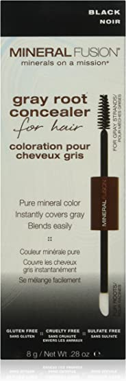 MINERAL FUSION Gray root concealer for hair black by mineral fusion, 0.28 oz, 0.28 Ounce