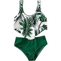 upxiang Costume da Bagno Bambina Ragazzine in Due Pezzi Stampa Floreale Senza Manica Spiaggia Mare Piscina Costume…