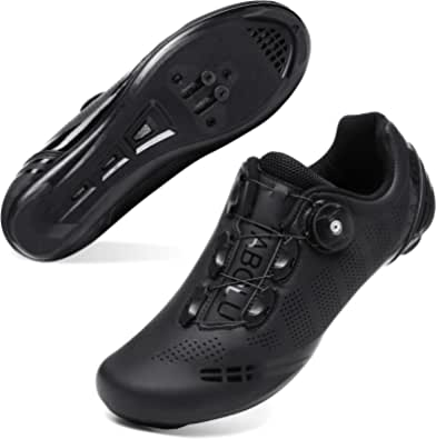 JOINFREE Men Women Cycling Shoes Road SPD Bike Cycling Shoes Spin Shoestring Compatible with Peloton/Look Delta Pedals with Delta Cleats