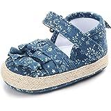 LukyTimo Sandali da Neonato, Sandali per Bambini Simpatici Neonati Ragazzi Tela Suola Morbida Presepe Zoccoli Sneakers Piccol