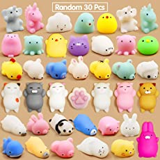 Party Propz Squeeze Stress Reliever Squishy Toys for Kids and Adults Pack of 30