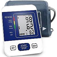 CAZON Oberarm-Blutdruckmessgerät Elektronisches Blutdruckmessgerät Automatische Messung von Blutdruck und Herzfrequenz 22-32cm große Manschette 2x99 Zwei-Benutzer-Speicher (Weiß)