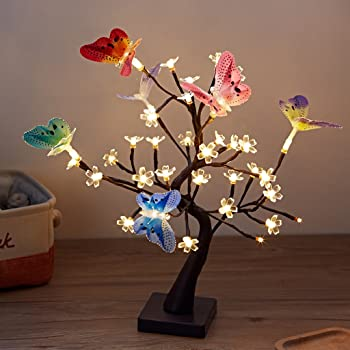 Finether Led Guirlande Lumineuse Arbre Branches Lumineux Led Lampe