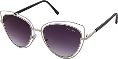 Silver Kartz UV Protected Cat-Eye Women Sunglasses - (wc217|55|Black)