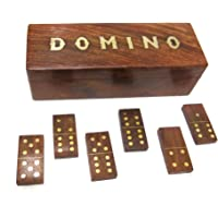 Ages Behind 8'' Wooden Domino Game Indoor/Outdoor Game/ Decorative Item
