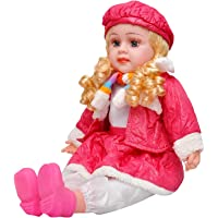 Niyam Singing Soft Push Stuffed Musical Rhyming Baby Doll Toy for Girls (Color and Design May Vary))