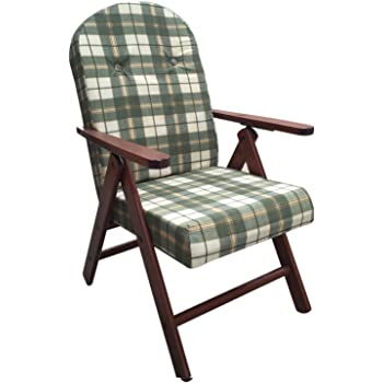 Poltrona sedia sdraio amalfi colore verde in legno reclinabile 4 posizioni cuscino imbottito h - Sdraio da giardino ikea ...