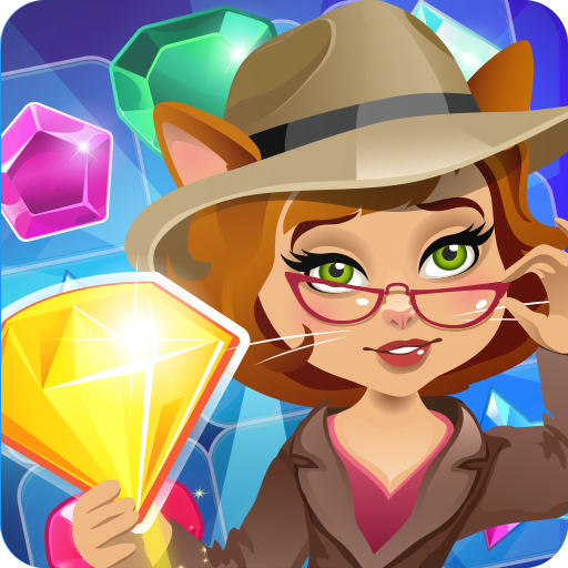 Jewels Detective Match 3 Games For Kids Free 3 in a row gems matching mania Match your way in Gems Match 3, a Free jewel blast classic Match three Game where you tap tap