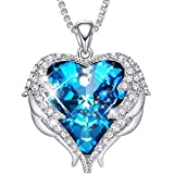 Heart Pendant Necklace for Women Crystals Jewellery Gifts with Elegant Jewelry Box- Gift for Mother's Day, Birthday, Annivers