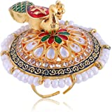 Bhagya Lakshmi Women's Pride Traditional Alloy Contemprary Ring For Women
